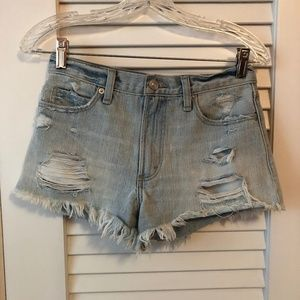 Abercrombie High Rise Denim Shorts 00